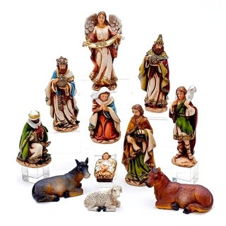 Kurt Adler 6-Inch Nativity Set with 11 Figures