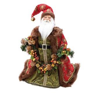 Kurt Adler 20-Inch Santa Tablepiece with Bells and Garland