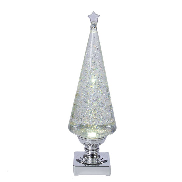 Shop Kurt Adler 14 Inch Battery Operated Clear And Silver
