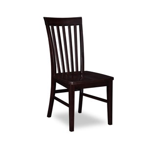Mission Dining Chairs with Wood Seat in Espresso (Set of 2)
