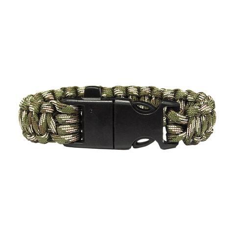 TrailWorthy Firestarter Polyester Camo Paracord Bracelet