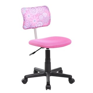 Adjustable Pink Mesh Kids Desk Chair