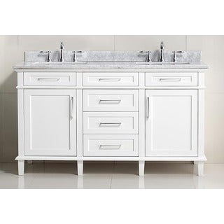 Ari Kitchen and Bath Newport 60-inch Double Bathroom Vanity Set