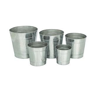 Benzara Aluminum Planters (Pack of 5)