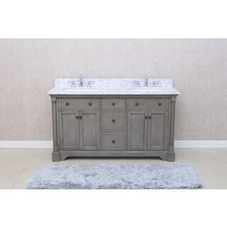 Ari Kitchen and Bath Stella 61-inch Double Bathroom Vanity Set