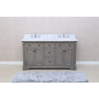 Ari Kitchen And Bath Stella 61 Inch Double Bathroom Vanity Set