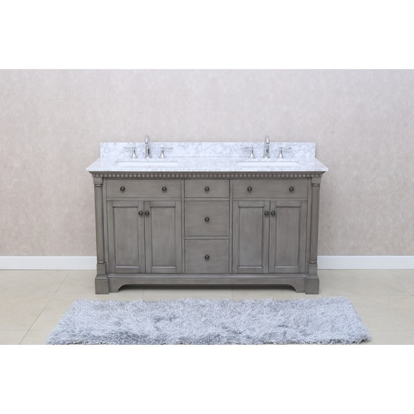 Ari Kitchen and Bath Stella 61-inch Double Bathroom Vanity Set