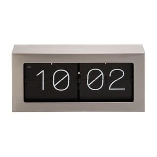 Classic Black Resin/ Stainless Steel Flip Clock