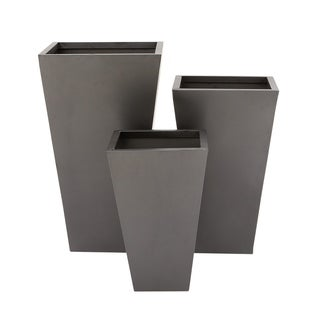Simple Grey Iron 3-piece Planters