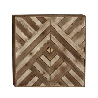 Studio 350 Wood Wall Decor 25 inches wide, 25 inches high - Brown