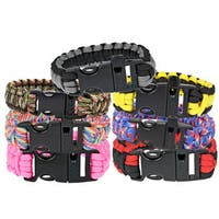 TrailWorthy Polyester Paracord Bracelet with Whistle