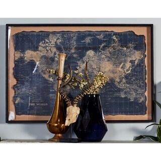 Benzara Amazing Wood Wall World Map