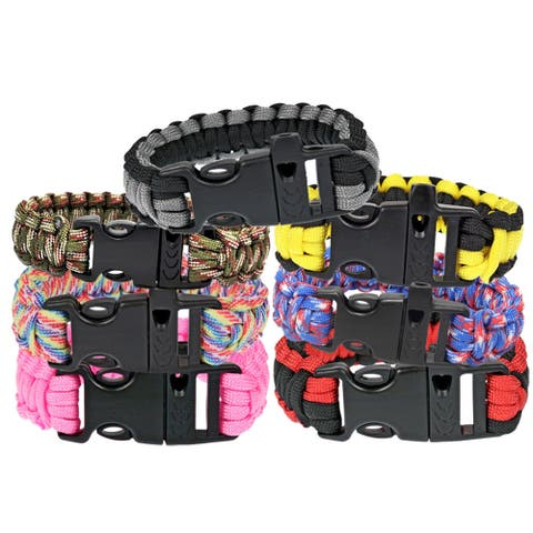 TrailWorthy Paracord Bracelet with Whistle (Case of 500)