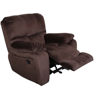 Porter Ramsey Cocoa Brown Plush Microfiber Power Gliding Recliner