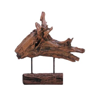Benzara Abstract Brown Driftwood PS Sculpture