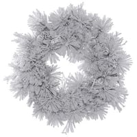 Vickerman 36-inch Flocked Alberta Wreath with Pine Cones and 150 Tips