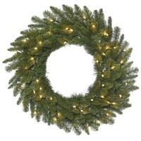 Vickerman Green 20-inch Durango Spruce Wreath with 50 Clear Dura-lit Lights