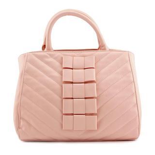 Betsey Johnson Women's Blk Tie Affair Faux Leather Handbag