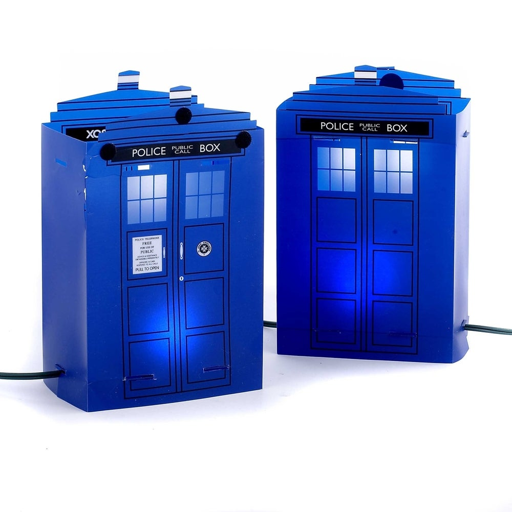 Shop Now For The Doctor Who Tardis 9 Inch Light Up Tree Topper Fandom Shop