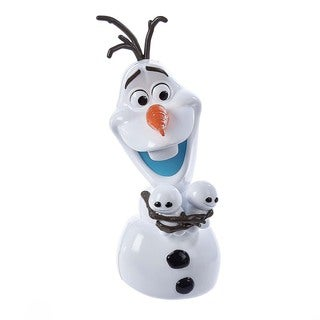 Kurt Adler 10-Inch Battery-Operated Olaf Treetop/Tablepiece with Light-Up Nose