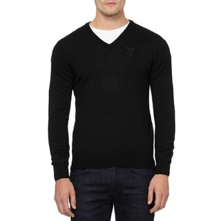 Versace Collection Black Wool V-neck Sweater