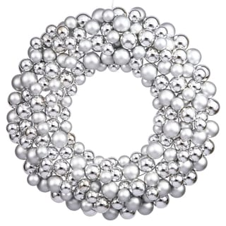Silver 24-inch Ball Wreath