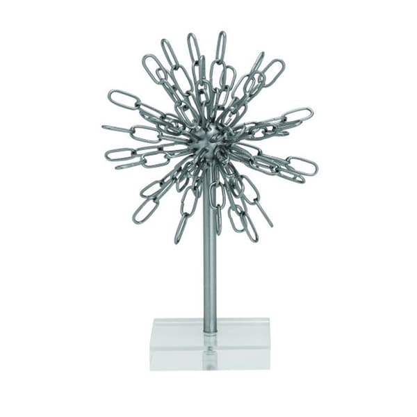 Studio 350 Metal Acrylic Silver Decor 8 inches wide, 12 inches high
