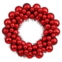 Red 12-inch Colored Ball Wreath
