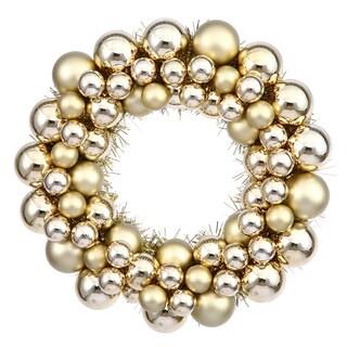 Vickerman Gold-colored 12-inch Ball Wreath
