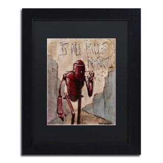 Craig Snodgrass 'It All Falls Apart' Matted Framed Art