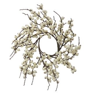 Vickerman White 18 Inch Indoor Outdoor Artificial Berry Wreath Ping The Best Deals On Christmas Wreaths Garlands