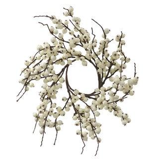 Vickerman White 18-inch Indoor/Outdoor Artificial Berry Wreath