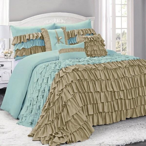 Fashion Street Brise Ruffled 7-piece Comforter Set