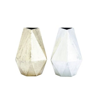 Benzara Gorgeous Metal Vase (Set of 2)