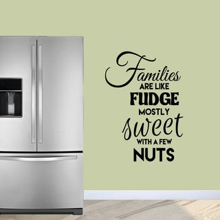 Sweetums 'Families Are Like Fudge' Wall Decal