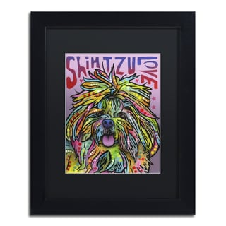 Dean Russo 'Shih Tzu Luv' Matted Framed Art