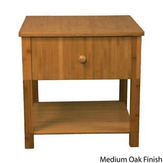 Belmont Bamboo Wood One Drawer SideTable
