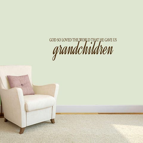 Sweetums 'God Gave Us Grandchildren' 36 inch Wall Decal