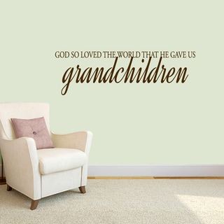 Sweetums 'God Gave Us Grandchildren' 48-inch Wall Decal
