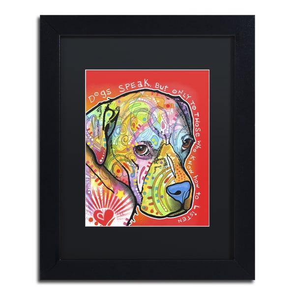 Dean Russo 'Dogs Speak' Matted Framed Art