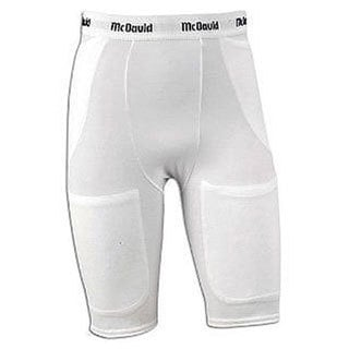 McDavid Classic Boys' 750Y Pro Model White Large 5-pocket Compression Athletic Shorts