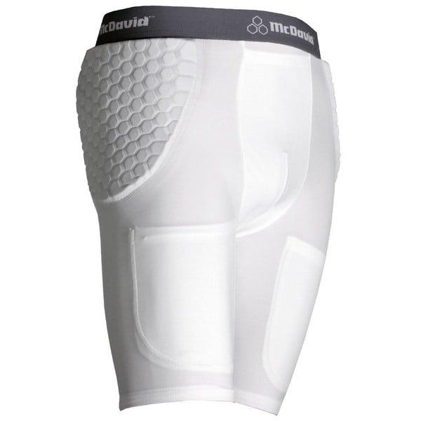 McDavid 755 Y Youth Pro Model White X-large Padded Football Shorts