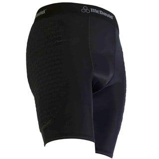 McDavid Classic Men's Black Mid-length Hexpad Soccer Sliding Short
