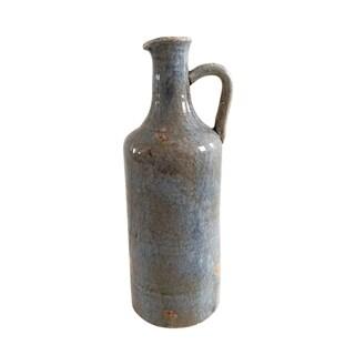 Jeco Blue Ceramic Small Bottle Pitcher