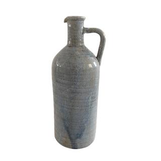 Jeco Blue Ceramic Large Bottle Pitcher