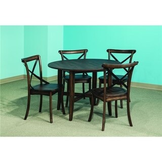 Intercon Lindsay Walnut 42x42 Round Dinette Table