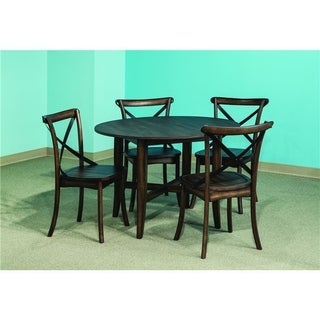 Lindsay Walnut 42x42 Round Dinette Table