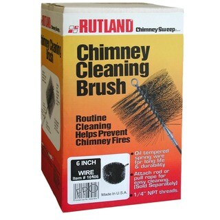 "Rutland 16406 6"" Round Wire Chimney Cleaning Brush"