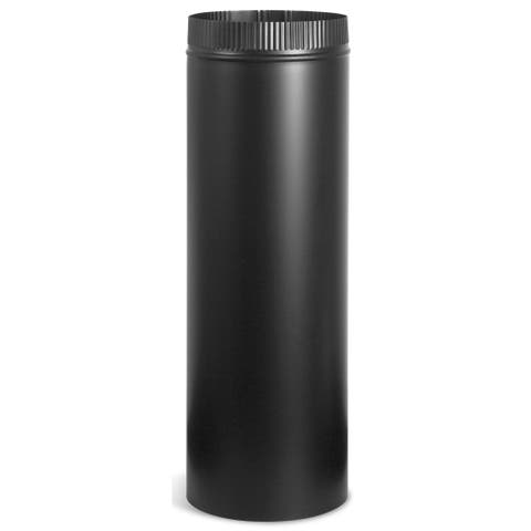 """Imperial Manufacturing Group BM0102 6"""" X 12"""" Black Matte Stove Pipe"""
