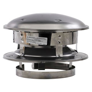 "Selkirk 6T-CT 6"" Stainless Steel Round Top"